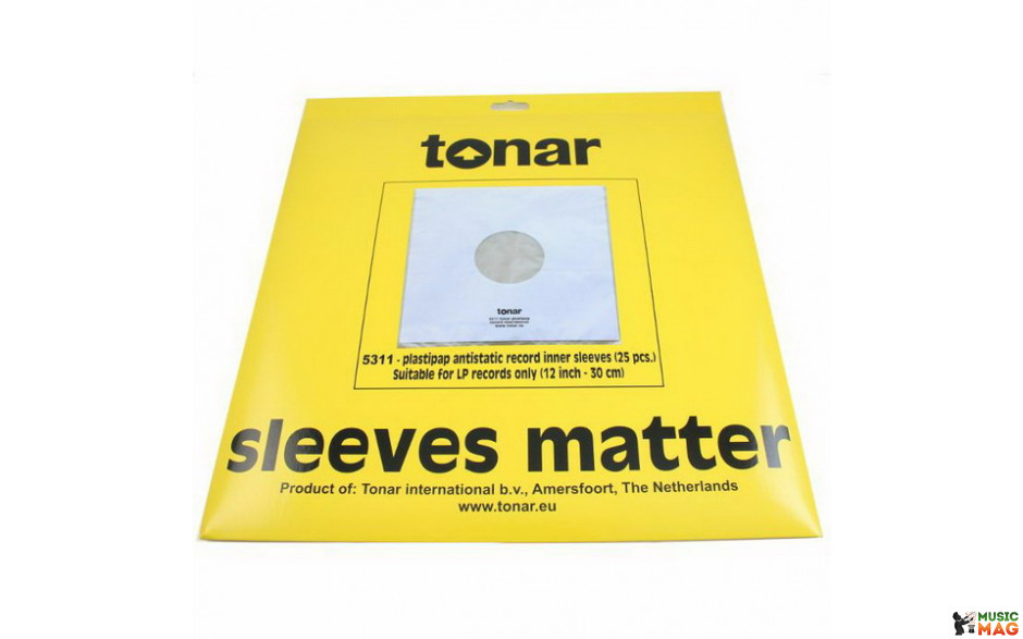 Tonar 25 внутренних пакетов для виниловых пластинок (25 Pcs./ Pack) art 5311