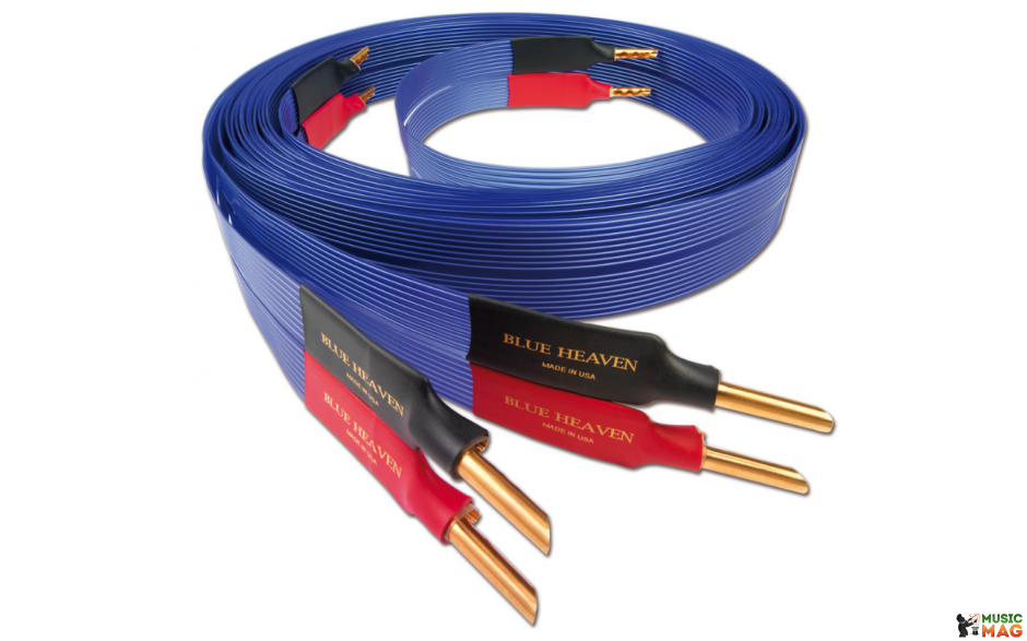 Nordost Blue Heaven, 2x3m is terminated with low-mass Z plugs