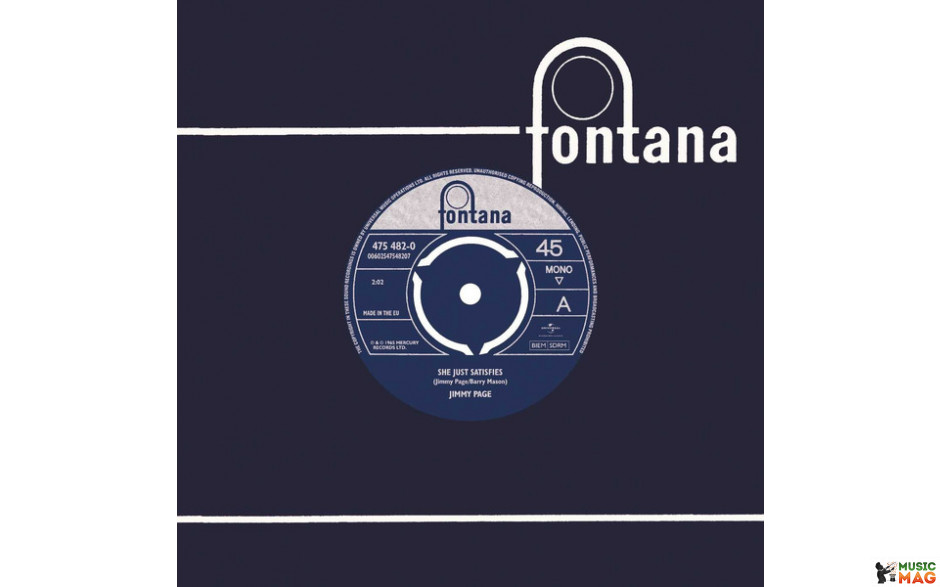 JIMMY PAGE - SHE JUST SATISFIES 1965 (475 482-0, 7 Inch Re-issue) FONTANA/EU MINT (0602547548207)