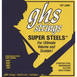 GHS STRINGS SUPER STEEL ROUNDWOUND BASS SET