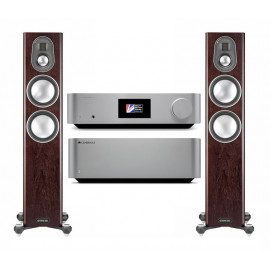 Cambridge Audio EDGE W + Cambridge Audio EDGE NQ + Monitor Audio Gold 200 Dark Walnut