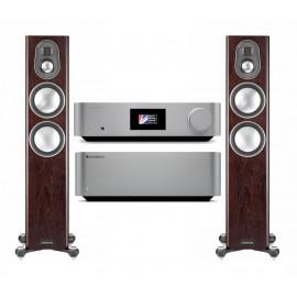 Cambridge Audio EDGE W + Cambridge Audio EDGE NQ + Monitor Audio Gold 200 Dark Walnut