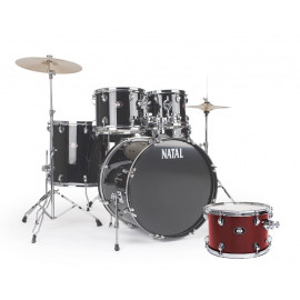 NATAL DRUMS DNA ROCK DRUM KIT RED HARDWARE PACK