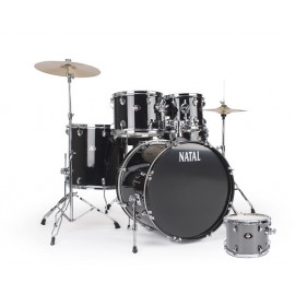 NATAL DRUMS DNA ROCK DRUM KIT SILVER HARDWARE PACK