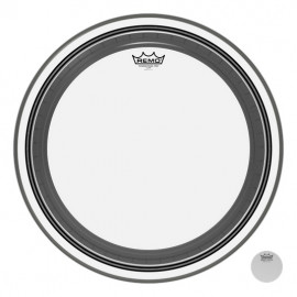 "REMO Bass, POWERSTROKE® 3, Clear, 20"" Diameter, No Stripe"