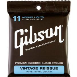 Gibson SEG-VR11 VINTAGE RE-ISSUE PURE NICKEL WOUND .011-.050