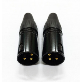 Nakamichi - Gold XLR (3 Pin) Male Cable Connector
