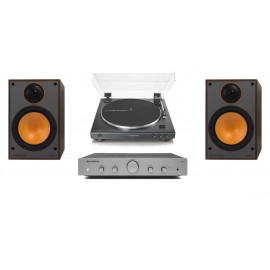 Audio-Technica AT-LP60XUSBBK + Cambridge Audio AXA25 + Monitor Audio Monitor 100