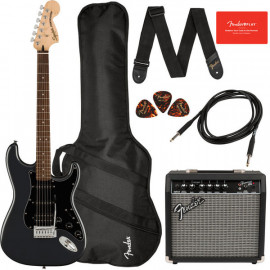 SQUIER by FENDER AFFINITY SERIES STRAT PACK HSS CHARCOAL FROST METALLIC