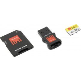 Strontium MicroSDHC 32GB Class 10 UHS-I Nitro 466x + SD adapter + USB Card Reader
