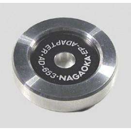 Nagaoka AE Adaptor 45RPM Alluminium art 3031