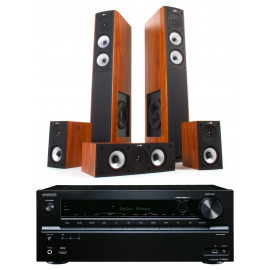 Jamo S 626 HCS Dark Apple и ресивер Onkyo TX-SR333