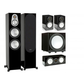 Monitor Audio Silver 500 /100/centre150/W12 Black High Gloss