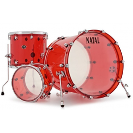 NATAL DRUMS ARCADIA ACRYLIC TRANSPARENT RED
