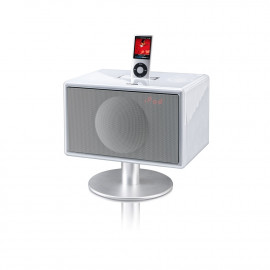 Geneva model S (with bluetooth + clock radio) - White