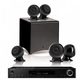 Onkyo TX-L50 Black + set 5.1 Cabasse Eole 3 5.1 System WS Glossy Black