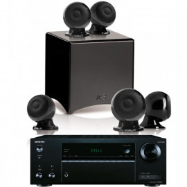 Onkyo TX-NR575E + set 5.1 Cabasse Eole 3 5.1 System WS Glossy Black