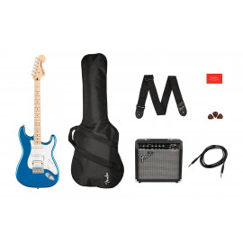 SQUIER by FENDER AFFINITY SERIES STRAT PACK HSS LAKE PLACID BLUE