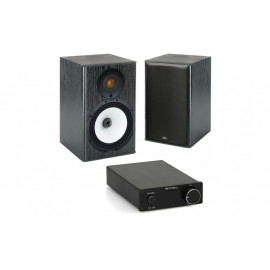 S.M.S.L SA-98E + Monitor Audio MR1 Black