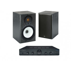 Cambridge Audio Topaz AM5 + Monitor Audio MR1 Black