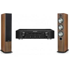 Marantz PM 6006 Black + Monitor Audio Bronze 6 Walnut