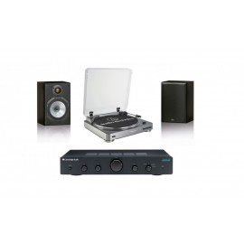 Audio-Technica AT-LP60 + Cambridge Audio Topaz AM5 + MONITOR AUDIO Monitor Reference 1 Black