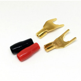 Straight Wire - Y Spade Gold Plated Terminal Plug