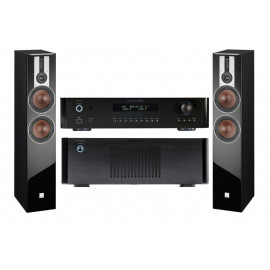 Rotel RB-1582 MkII Black+Rotel RС-1570 Black+DALI Opticon 6 Black