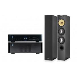 Rotel RB-1582 MkII Black+Rotel RС-1580 Black+B&W 683 S2 Black