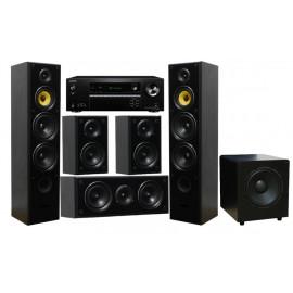 Onkyo TX-SR393 + Taga Harmony TAV-606 v.3 Set Black