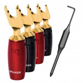 AUDIOQUEST 500 Series Multi-Spade Gold set of 6