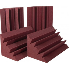 Auralex LENRD Bass Traps, 4 pieces, Burgundy