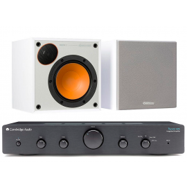 Cambridge Audio Topaz AM5 Black + Monitor Audio Monitor 50 White