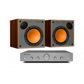 Cambridge Audio AXA25 + Monitor Audio Monitor 50 Walnut