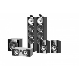 B&W 702 S2 set 5.1 Black Gloss