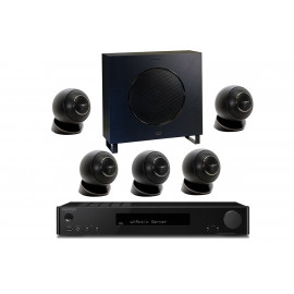 Onkyo TX-L50 Black + set 5.1 Cabasse Eole 4 5.1 System WS Glossy Black
