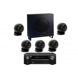 Denon AVR-X1600H + set 5.1 Cabasse Eole 4 5.1 System WS Glossy Black