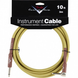 FENDER CUSTOM SHOP PERFORMANCE CABLE 10 ANGLED TW