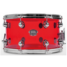 NATAL DRUMS ARCADIA ACRYLIC SNARE DRUM TRANSPARENT RED