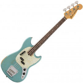 FENDER JMJ MUSTANG BASS RW FADED DAPHNE BLUE