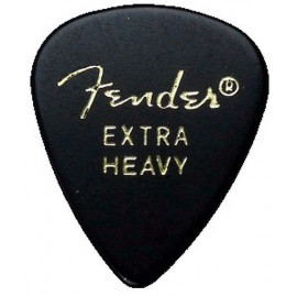 Fender 351 Classic Celluloid (144) - Black Extra Heavy