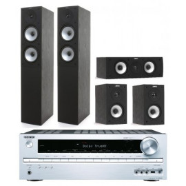 Jamo S 526 HCS (Black) и ресивер Onkyo TX-NR535 (Silver)