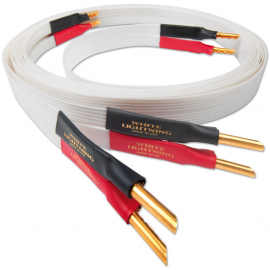 Nordost White lightning,2x2m is terminated with low-mass Z plugs