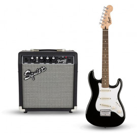 FENDER SQUIER STRAT PACK SSS BLACK