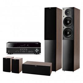Домашний кинотеатр set 5.0 Yamaha RX-V383 Black + Jamo S506 HCS Wenge