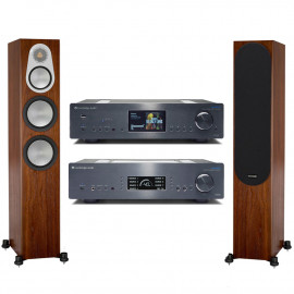 Cambridge Audio AZUR 851A+Cambridge Audio 851N Network+Monitor Audio Silver 300