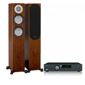 Arcam FMJ A29 Black + Monitor Audio Silver 200 Walnut