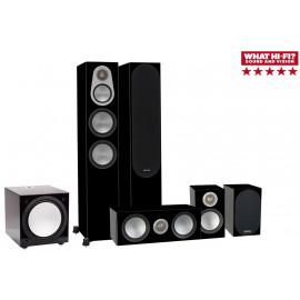 Monitor Audio Silver 300/100/centre 150/W12 Black High Gloss
