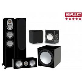 Monitor Audio Silver 300/FX/centre150/W12 Black High Gloss