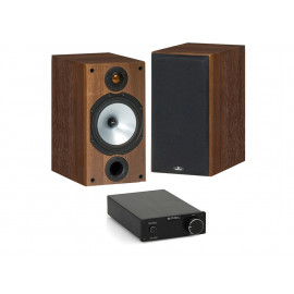 S.M.S.L SA-98E + Monitor Audio MR2 Walnut